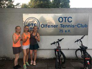 Tennisjugend beim Training