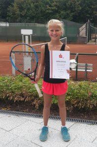 Tenniswettkampf Urkunde