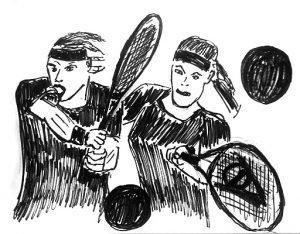 Zeichnung Tennisschule