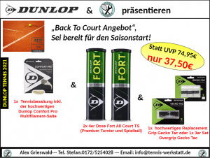 Tennis Equipment mit Discount