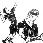 Zeichnung Tennisspieler